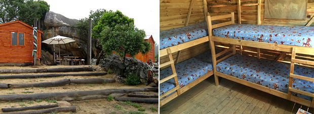 Geoff's shack with bunk bed accommodation.