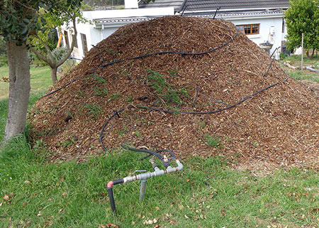 Our compost heap for hot water system.