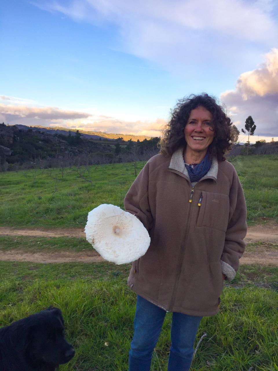 Riette with veld mushroom